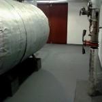 BD ul. VLTAVSKÁ 13, BRNO KOTELNA (drobné zapravení stěn a jejich výmalba vč. stropu, očištění potrubí a kotle, stěrka a nátěr podlahy)