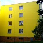 BD ul. PLEVOVA 3, Brno - oprava a nátěr klempířských prvků, nová hydroizolace, oprava omítek vnějších stěn fasády, penetrace a nátěr fasády
